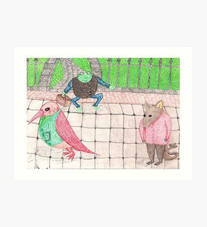 Bird, Frog, Mouse Art Print