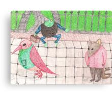 Bird, Frog, Mouse Canvas Print