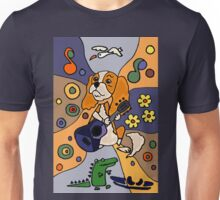 Cool Funny Cavalier King Charles Spaniel Abstract Art Unisex T-Shirt