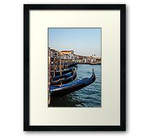 Gondolas in Venice. Framed Print
