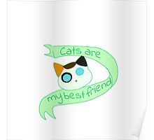 Cats are my best friends Poster