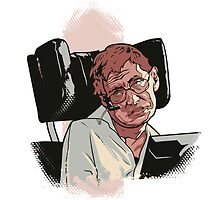Stephen Hawking pillow by Cloxboy
