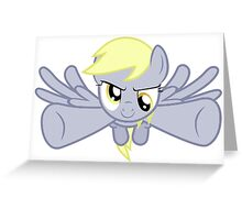 Derpy swoop into battle Greeting Card