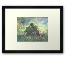 HAPPILY DEVOTED TO YOU LOVING COUPLE Framed Print