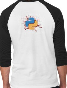 I Know Python. How to Meet Ladies. Gift for Programmers Men's Baseball ¾ T-Shirt