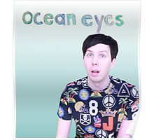 phil lester - ocean eyes - blue gradient Poster