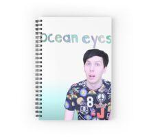 phil lester - ocean eyes - blue gradient Spiral Notebook