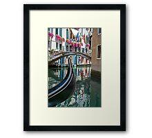 Gondola in Venice. Framed Print