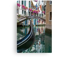 Gondola in Venice. Canvas Print