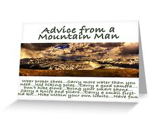 Advice from a Mountain Man Greeting Card