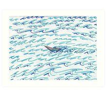 Alaskan Fisherman on the Ocean Art Print