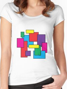 squares Women's Fitted Scoop T-Shirt
