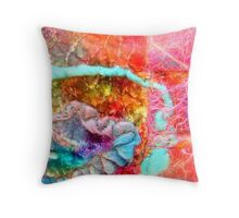 Inspired by Hunderwasser 1 Throw Pillow