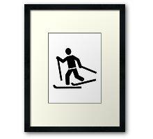 Cross-country skiing Framed Print