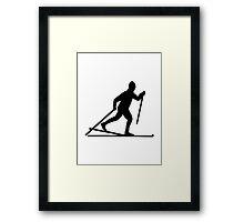 Cross country skiing Framed Print