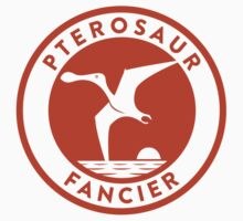 Pterosaur Fancier Tee (Orange on White) by David Orr