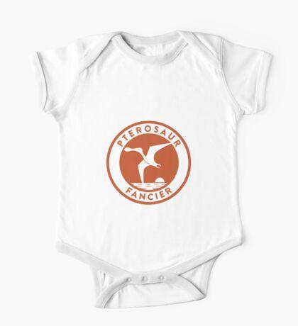 Pterosaur Fancier Tee (Orange on White) One Piece - Short Sleeve