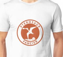Pterosaur Fancier Tee (Orange on White) Unisex T-Shirt