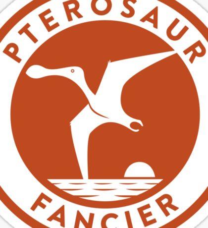 Pterosaur Fancier Tee (Orange on White) Sticker