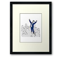 success career win Framed Print