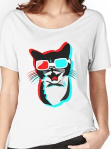 3D Cat Women's Relaxed Fit T-Shirt