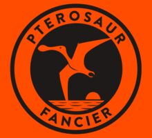 Pterosaur Fancier Tee (Black on Light) Kids Clothes