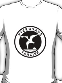 Pterosaur Fancier Tee (Black on Light) T-Shirt