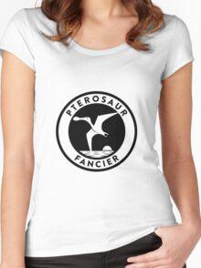 Pterosaur Fancier Tee (Black on Light) Women's Fitted Scoop T-Shirt