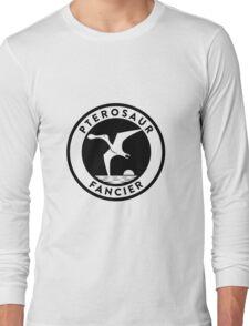 Pterosaur Fancier Tee (Black on Light) Long Sleeve T-Shirt