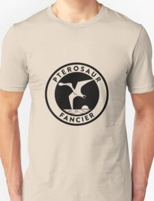 Pterosaur Fancier Tee (Black on Light) Unisex T-Shirt