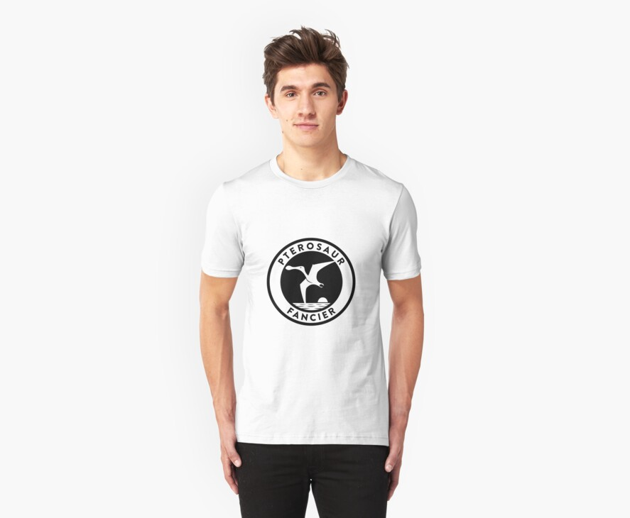 Pterosaur Fancier Tee (Black on Light) by David Orr