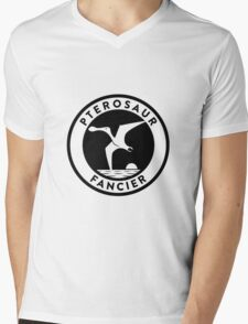 Pterosaur Fancier Tee (Black on Light) Mens V-Neck T-Shirt