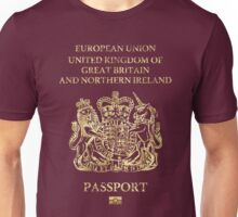 United Kingdom Passport Vintage Unisex T-Shirt