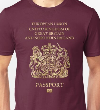 United Kingdom Passport Vintage Unisex T-Shirt