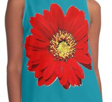 Red Flower Contrast Tank