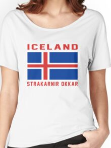 Iceland EURO 2016 France Women's Relaxed Fit T-Shirt