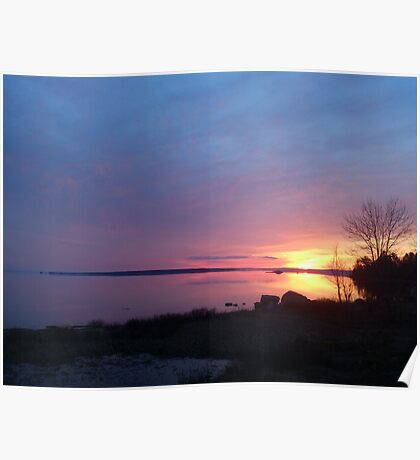 Old Mill Bay Sunset Poster
