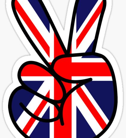 Union Jack Victory Sign Sticker