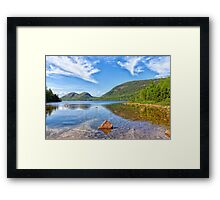 Jordan Pond and the Bubbles Framed Print