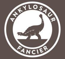 Ankylosaur Fancier Tee (White on Dark) Kids Clothes