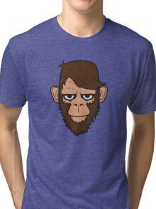 Monkey Hipster Beard Tri-blend T-Shirt