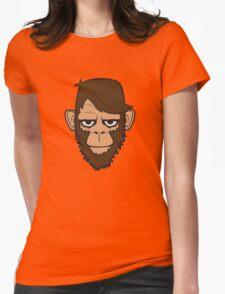 Monkey Hipster Beard Womens Fitted T-Shirt