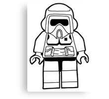Star Wars Lego Scout Trooper Fan Art Design Canvas Print