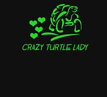 Crazy Turtle Lady T-Shirt Women's Fitted Scoop T-Shirt