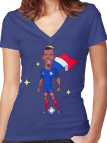 Pogba (SuperEuros) Women's Fitted V-Neck T-Shirt
