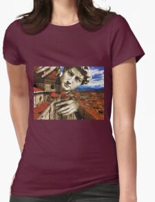 Curious David Womens Fitted T-Shirt