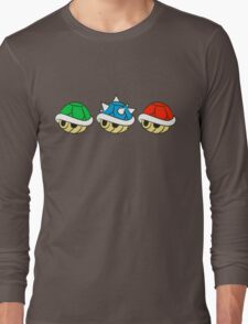 Mario Kart Items- Shells Long Sleeve T-Shirt