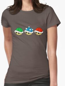 Mario Kart Items- Shells Womens Fitted T-Shirt