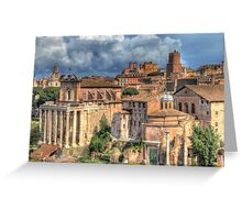 Rome - Now & Then Greeting Card