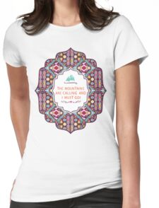 Native american colorful  tribal pattern Womens Fitted T-Shirt